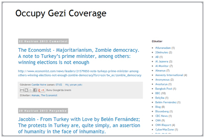 Occupy Gezi International Media Coverage