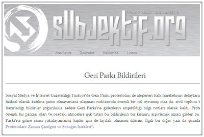 Subjektif (Gezi Park Protests Mainly Turkish)