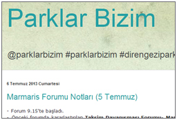 Parks Belong to Us (mainly Turkish)