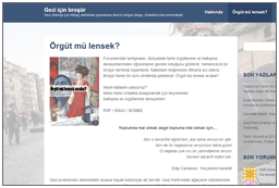 Gezi Brochure (Turkish)