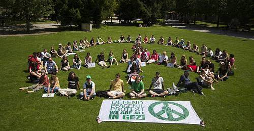 Solidaritätskundgebung für die protestierenden Menschen in der Türkei