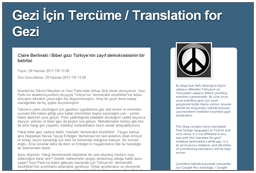 Translation for Gezi