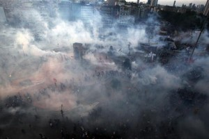UNJUSTIFIED RESPONSE: Teargas swirls around Taksim square in Istanbul on June 11. The indiscriminate use of violence against mostly peaceful protesters resulted in even bigger protests.