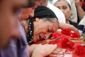 Ethem's mother at the funeral. Photo: Esra Koçak