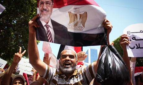 Although Ennahda's situation is much closer to Mohamed Morsi's than the AK party's, the coup is less threatening in Tunis than it is in Ankara. Photograph: Chedly Ben Ibrahim//Demotix/Corbis