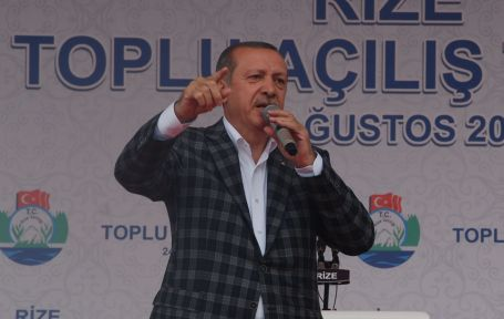Basbakan Recep Tayyip Erdogan, Rize'de