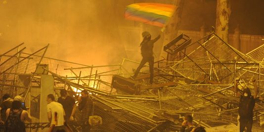 LGBT individuals were in the forefront at the barricades.